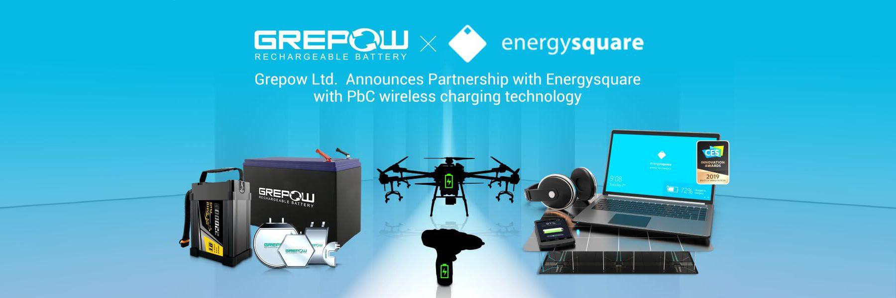 Grepow Ltd.  Announces Partnership with energysquare with PbC® wireless charging technology